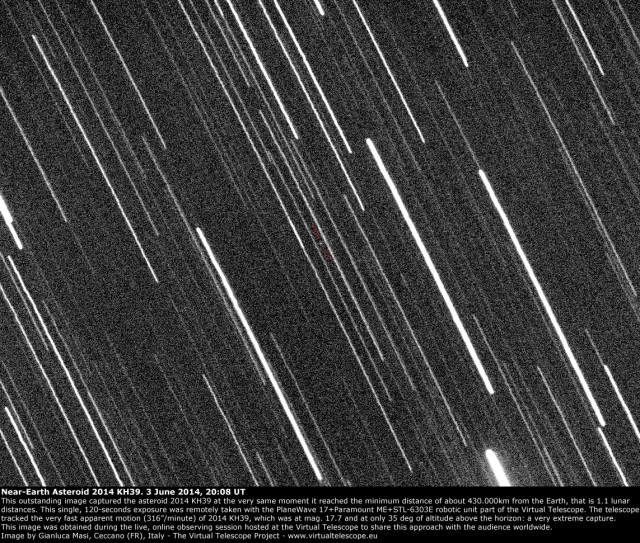 Near-Earth Asteroid 2014 KH39 very close encounter: 3 June 2014