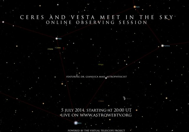 Ceres and Vesta meet in the sky