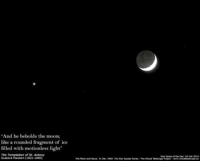 The Moon and Venus: 31 Dec. 2008