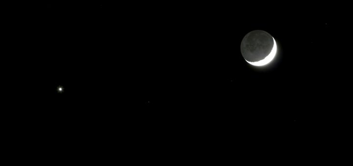 The Moon and Venus: 31 Dec. 2008