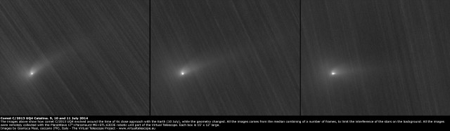 Comet C/2013 UQ4 Catalina: compared views from 9, 10 and 11 July 2014
