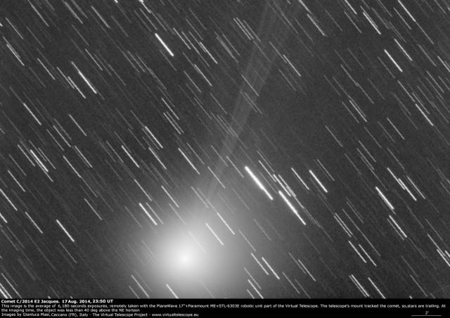 Comet C/2014 E2 Jacques: 17 Aug. 2014