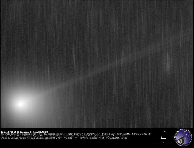Comet C/2014 E2 Jacques: 24 Aug. 2014