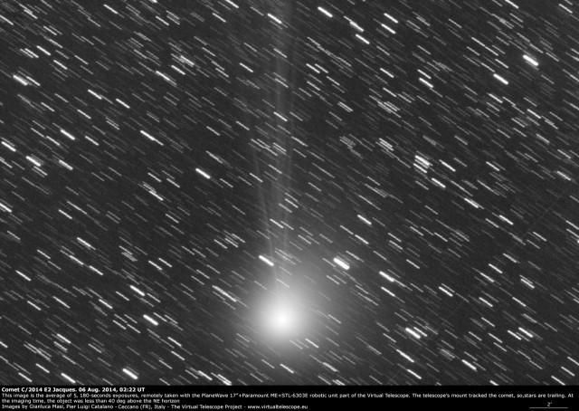 Comet C/2014 E2 Jacques: 6 Aug. 2014
