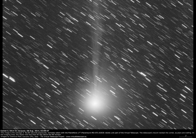 Comet C/2014 E2 Jacques: 8 Aug. 2014