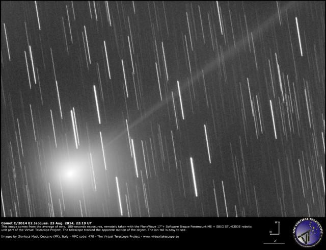Comet C/2014 E2 Jacques: 18 Aug. 2014