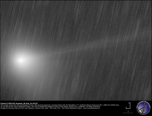 Comet C/2014 E2 Jacques: 26 Aug. 2014