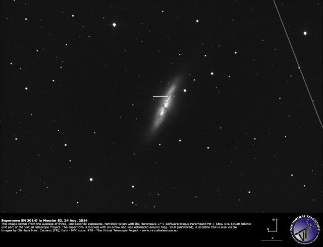 Supernova SN 2014J in M82: 24 Aug. 2014
