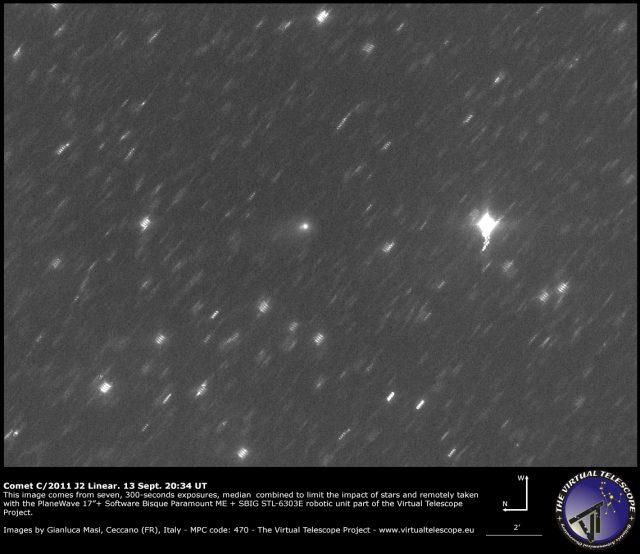 Comet C/2011 J2 Linear: 13 Sept. 2014