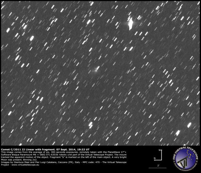 Comet C/2011 J2 Linear: 7 Sept. 2014