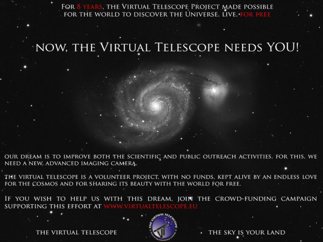 Virtual Telescope's Crowd-funding Campaign 2014