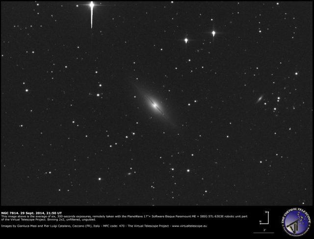 "NGC 7814 , the ""little Sombrero"""