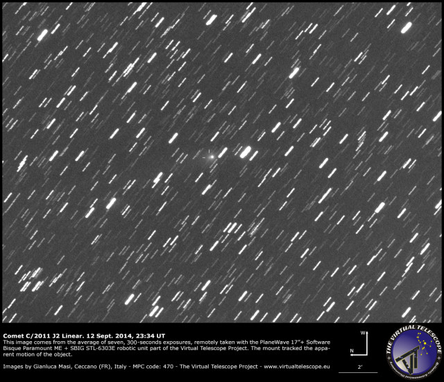 Comet C/2011 J2 Linear: 12 Sept. 2014