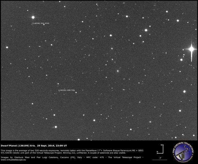 The dwarf planet (136199) Eris: 29 Sept. 2014