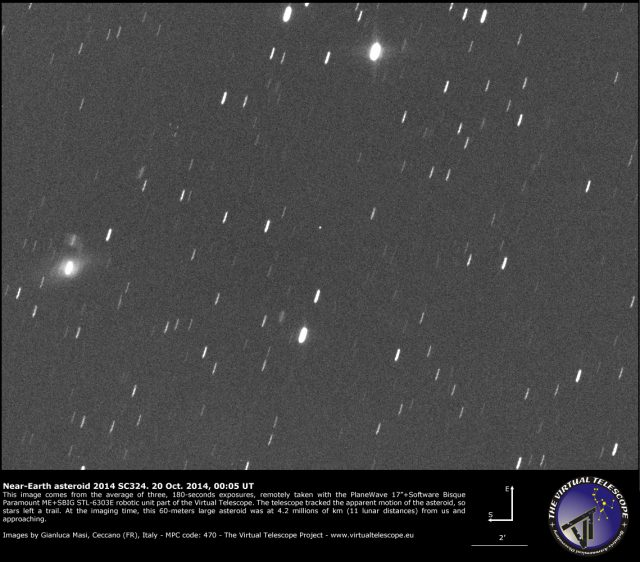 Near-Earth Asteroid 2014 SC324: 20 Oct. 2014