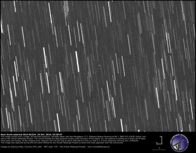 Near-Earth Asteroid 2014 SC324: 24 Oct. 2014