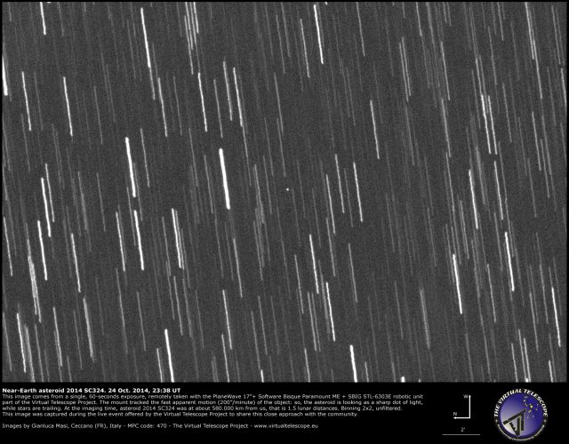 Near-Earth Asteroid 2014 SC324: 24 Oct. 2014