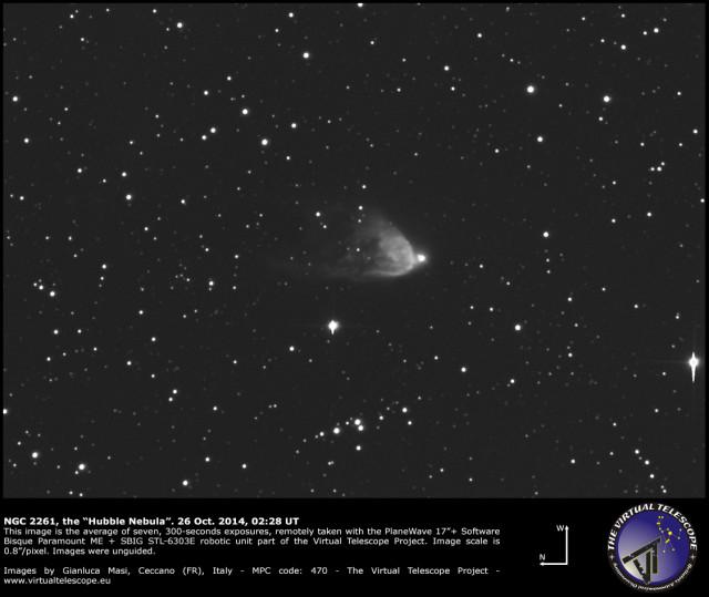 """NGC 2261, the """"Hubble Nebula"""""""