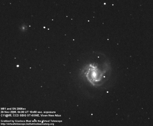 Messier 61 and SN 2006ov - 29 Nov. 2006