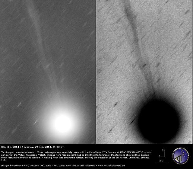 Comet C/2014 Q2 Lovejoy: 29 Dec. 2014