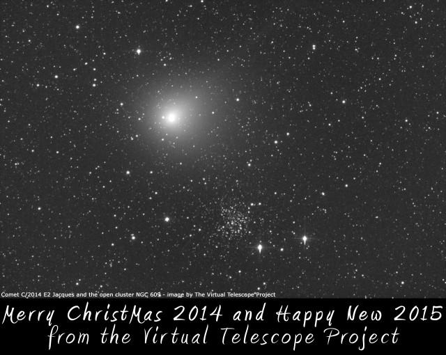 Virtual Telescope's Christmas 2014 card
