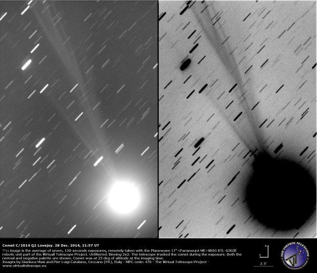 Comet C/2014 Q2 Lovejoy: 28 Dec. 2014