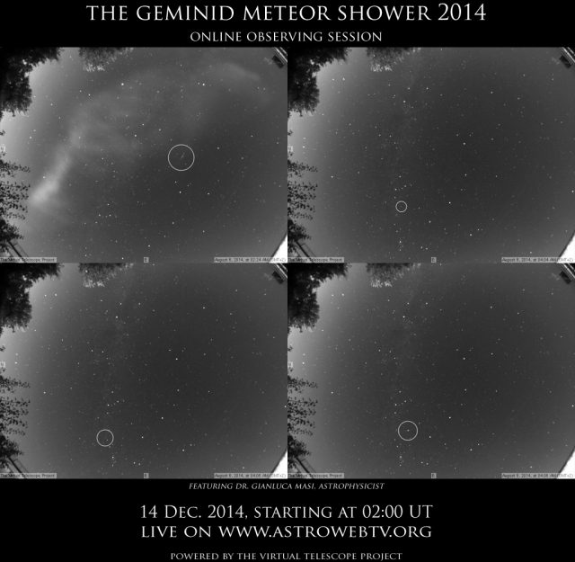 The Geminid Meteor Shower 2014: online event