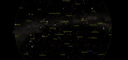 Star Chart: 15 Dec. 2014, 20:00 PM for (13°E,41°N)