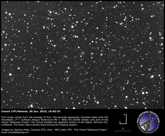 Comet 17P/Holmes: 30 Jan. 2015