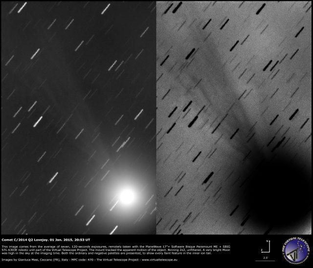 Comet C/2014 Q2 Lovejoy: 01 Jan. 2015
