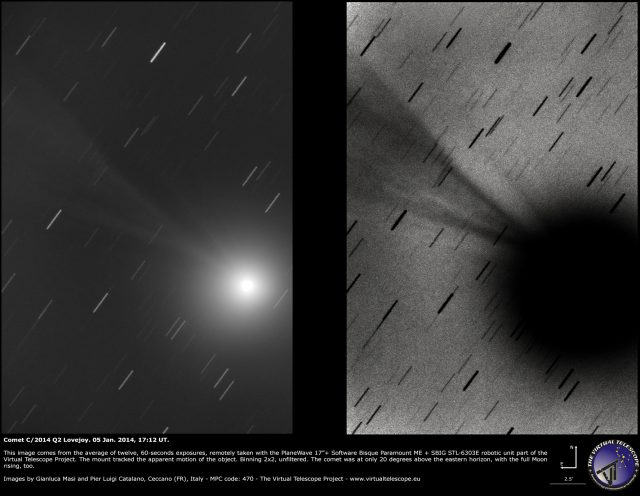 Comet C/2014 Q2 Lovejoy: 05 Jan. 2015