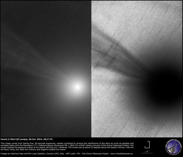 Comet C/2014 Q2 Lovejoy: 06 Jan. 2015