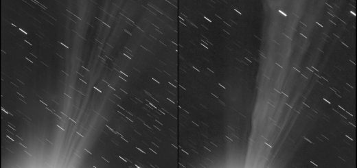 Comet C/2014 Q2 Lovejoy: 12 vs 13 Jan. 2015