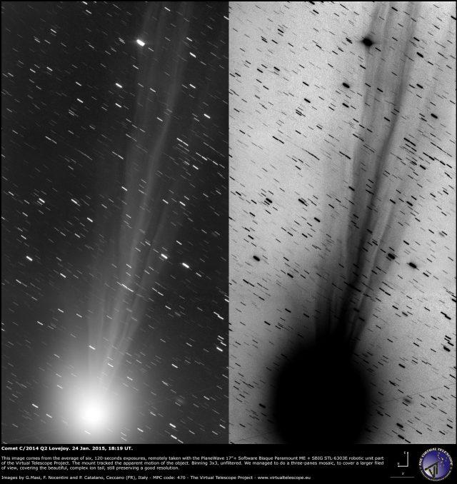 Comet C/2014 Q2 Lovejoy: 24 Jan. 2015