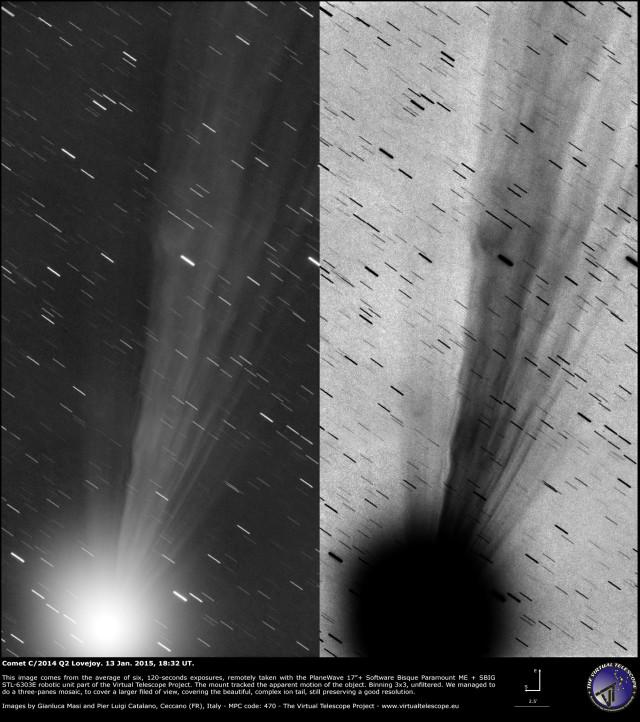 Comet C/2014 Q2 Lovejoy: 13 Jan. 2015