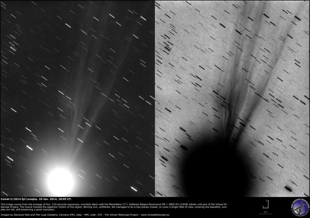 Comet C/2014 Q2 Lovejoy: 10 Jan. 2015