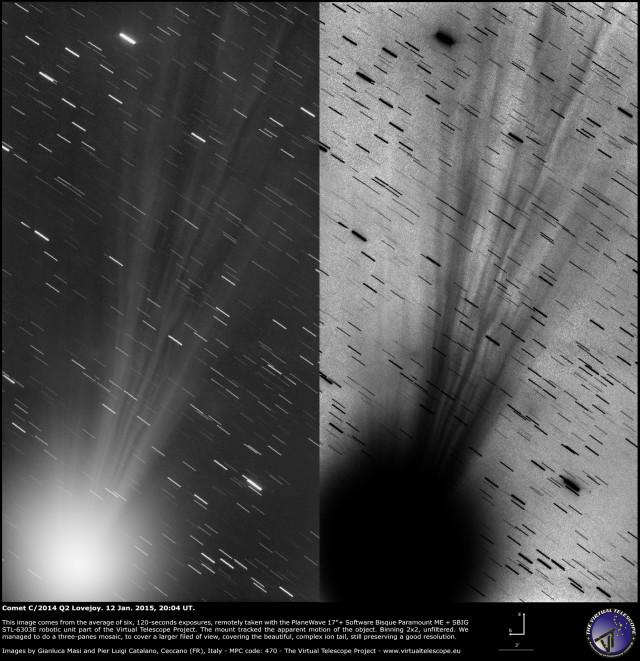 Comet C/2014 Q2 Lovejoy: 12 Jan. 2015
