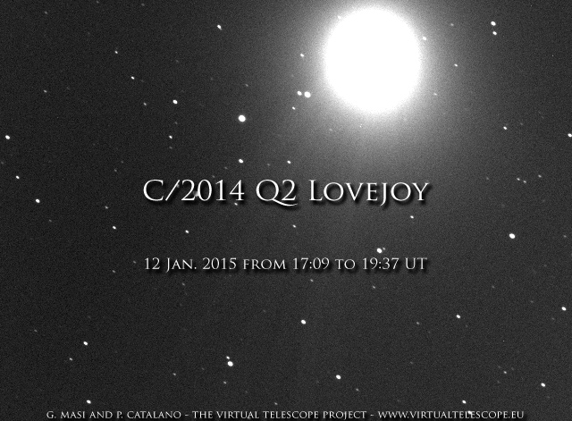 C/2014 Q2 Lovejoy: 12 Jan. 2014  - click for the movie