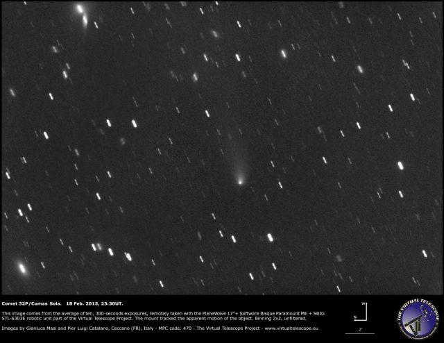 Comet 32P Comas Sola: 18 Feb. 2015