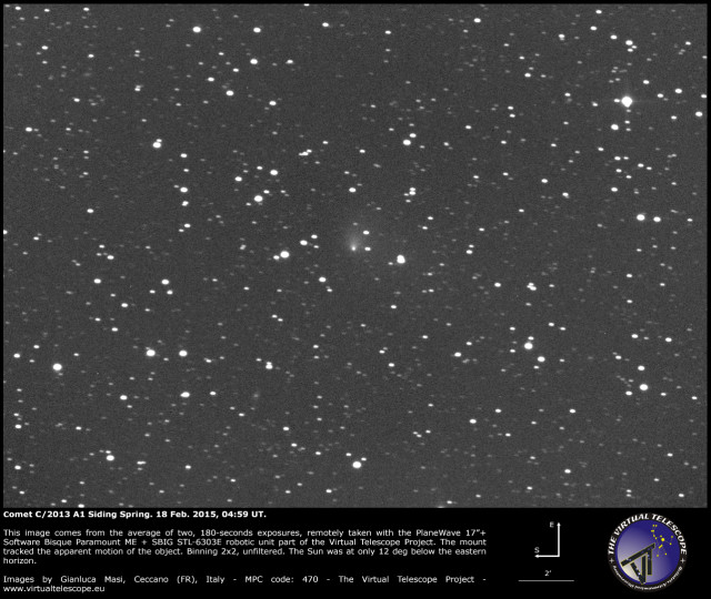 Comet C/2013 A1 Siding Spring: 18 Feb. 2015