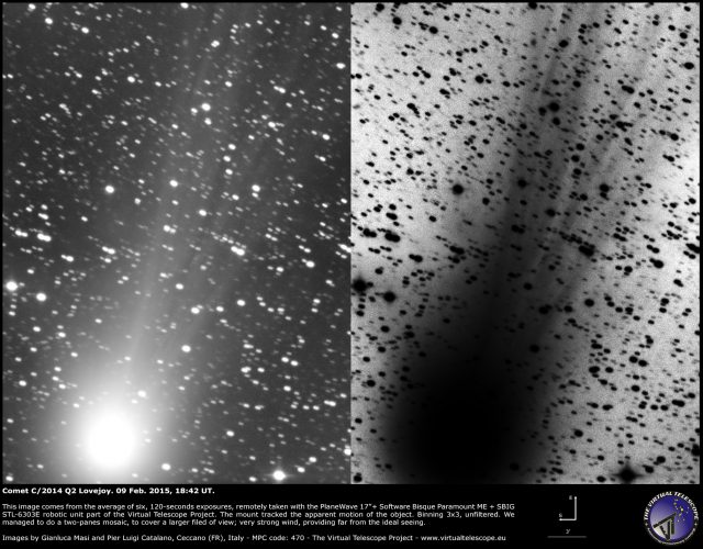 Comet C/2014 Q2 Lovejoy: 09 Feb. 2015