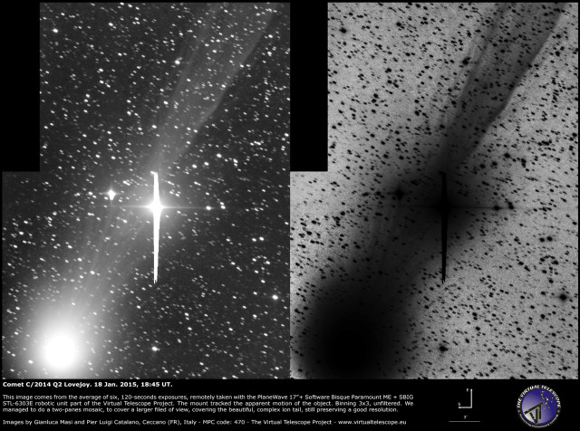 Comet C/2014 Q2 Lovejoy: 18 Feb. 2015