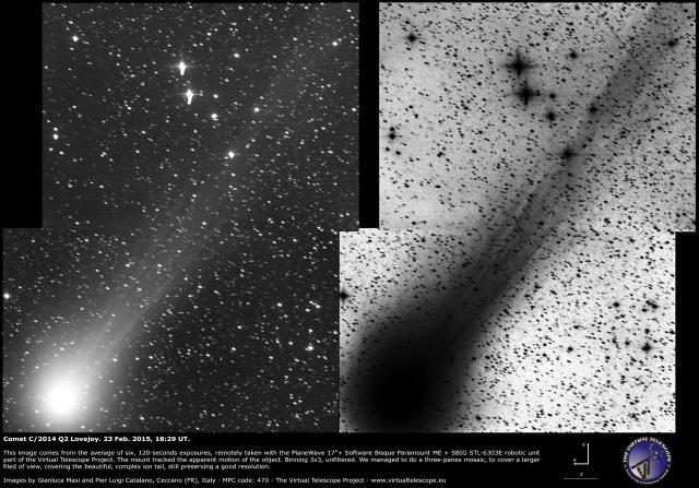 Comet C/2014 Q2 Lovejoy: 23 Feb. 2015
