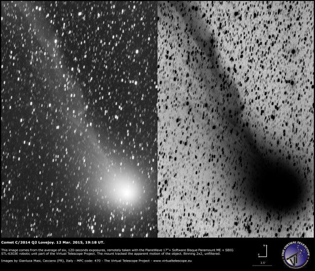 Comet C/2014 Q2 Lovejoy: 12 Mar. 2015