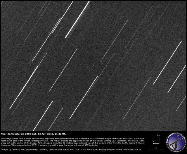 Near-Earth Asteroid 2015 GA1: 15 Apr. 2015