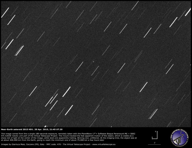 Near-Earth Asteroid 2015 HD1: 20 Apr. 2015