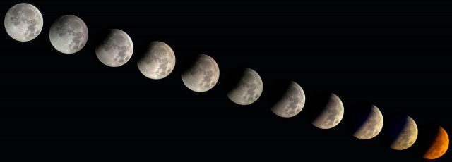 4 April 2015 lunar eclipse: a wonderful composition showing the full coverage from Florida, USA  (Gary Varney)