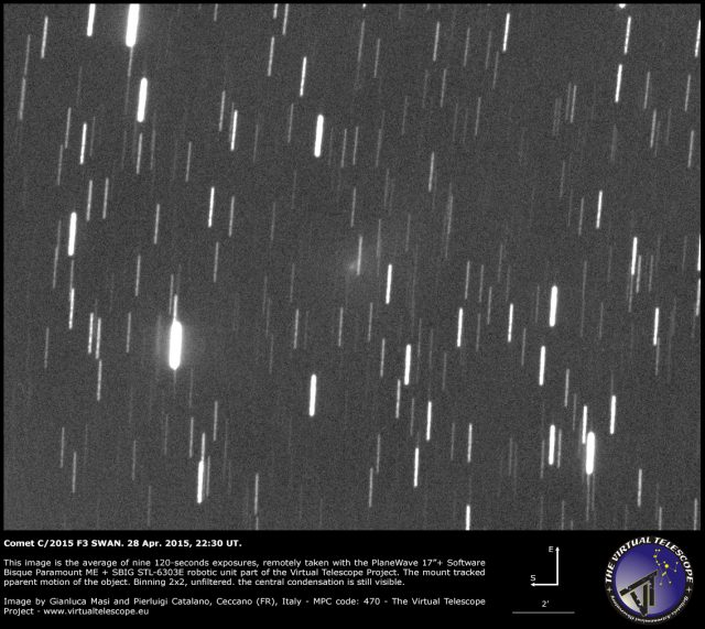 Comet C/2015 F3 Swan: 28 Apr. 2015