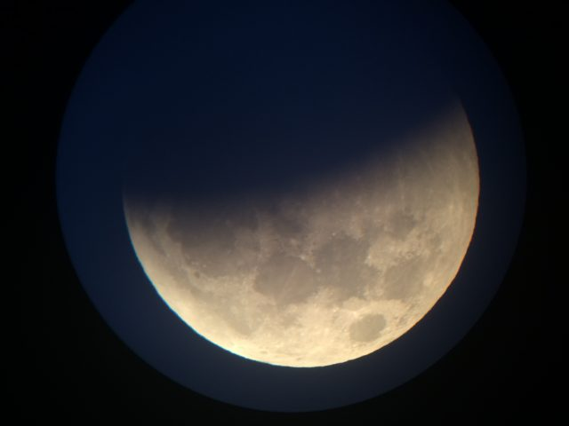 4 April 2015 lunar eclipse; the Earth's shadow is now very dominant (Gary Varney)
