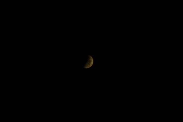 4 April 2015 lunar eclipse: a wide field image showing hald of the Moon in umbra  (Marcy Malavasi)